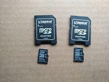 Lot of 2 Kingston 32 GB Class 10 Micro SD MicroSD Card w Adapter +2 MON WARRANTY