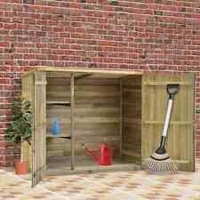 vidaXL Caseta Herramientas Jardín Madera Pino Impregnada 135x60x123cm Exterior