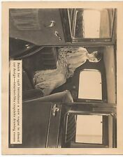 Large 1928 Buick Autombile Advertising Photo showing Interior of Auto