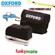 OXFORD PRODUCTS SECURITY SCREAMER ATTACK ALARM DISC LOCK + FREE DISC LOCK REMIND