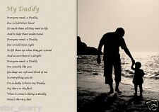 MY DADDY POEM (S2)  (Laminated Gift) - written by seller