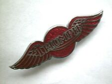 "Motociclo PIN BADGE ""TRIONFO Wing-Rosso"" MOTO Bavero BADGE-bg38a"