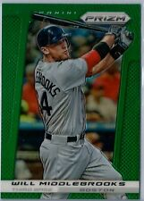 2013 Panini Prizm #84 Will Middlebrooks Rare Green Prizm NM/MT (Red Sox)