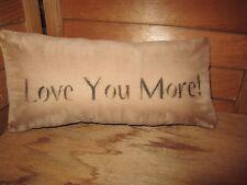 Primitive Stenciled Pillow -Love You more