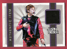 JUSTIN BIEBER IN RED LEATHER AUTHENTIC WORN MATERIAL SWATCH RELIC CARD 2012 BABY
