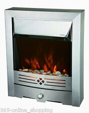2KW Modern Electric Fire LED Flame Insert FirePlace Room Heater Freestanding