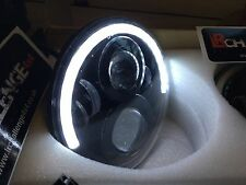 "Classic Mini 7"" Negro LED de luces de cabeza alta puesto 60 vatios medio Halo DRL"