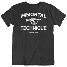 Immortal Technique Tee,  Army logo Vintage Machine Words Men's T-Shirts New