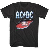 ACDC Razors Edge Album Cover Men's T Shirt Metal Rock Band Concert Tour Merch
