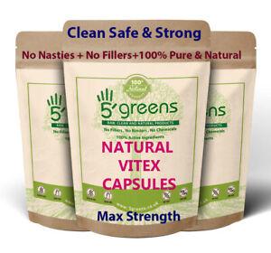 Vitex Fruit 4000 mg Vegetarian Capsules (Agnus Castus) (Chasteberry Fruit)