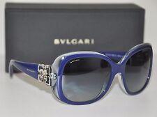 Bvlgari Sunglasses 8172-B 5391/4L Top Blue Azure Crystal Grey Gradient NIB 58mm
