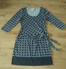 Ladies Max Studio Knee length Blue Black White Dress XL 16/18 Bodycon Stretchy