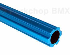 "Old school BMX bicycle 450mm seatpost seat post fluted alloy 22.2mm 7/8"" BLUE"