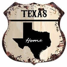 BP0158 HOME TEXAS MAP Shield Rustic Chic Sign Bar Shop Home Decor Gift