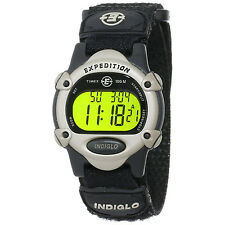 New Timex Unisex T47852 Expedition Mid-Size Digital CAT Black Fast Wrap Strap