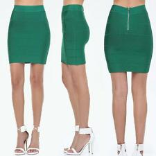 BEBE GREEN LUSH MEAD BANDAGE SOLID STRETCH SKIRT NEW NWT $79 SMALL S