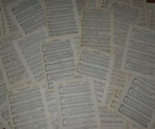 30 Pc Vintage asst scrapbook paper Hymns sheet music crafts collage art wrapping