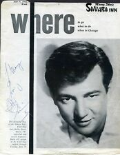 BOBBY DARIN Original Signed Magazine Page Vintage Autograph Sahara Inn 1962 Skar