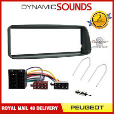 CT24PE02 Radio Fascia Panel Fitting Kit Facia & Wiring For Peugeot 206 1998-2001