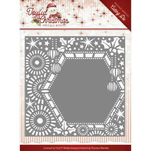 joyful christmas precious marieke die ribbon frame