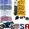 CNC Motorcycle Complete Fairing Bolts Kit Bodywork Screws Nuts Fit For Kawasaki