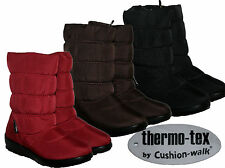 LADIES TERMO-TEX WINTER SNOW WARM CASUAL BOOT WITH SIDE ZIP AND FUR LINING 3-8