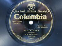 Vintage 78RPM Record Columbia 1554D Joe Browning Hallelujah & I'm A Reformer