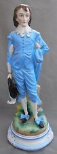 Figura De Porcelana Ernst Bohne Sohne el Niño Azul Thomas Gainsborough altura 35cm