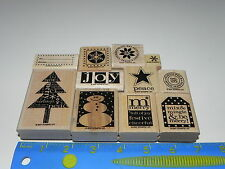 Stampin Up Perfect Presentation Stamp Set of 11 Christmas Snowman Tree Snowflake