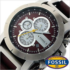 FOSSIL MEN'S LUXURY LEATHER COLLECTION CHRONOGRAPH WATCH JR1157