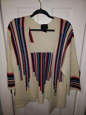 Stussy Cardigan Sweater M Womens Ivory RN94974 CA28629