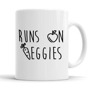 Runs On Veggies Funny Mug Cup