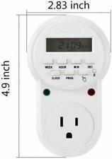 ZEEFO 7 Days Programmable Plug-in Digital Timer Switch Controllers Smart Socket