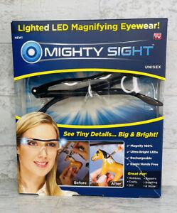 Mighty Sight Led Magnifying Eyewear Glasses Unisex See Tiny Details Big & Bright