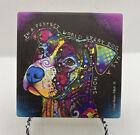 4 Pitbull Ceramic Coaster Tile Tan By Dean Russo