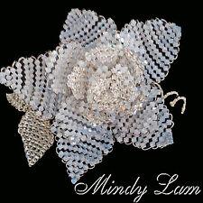 Sparkling Swarovski Crystal Beads White Rose Pin by Mindy Lam Great 4 Bride!