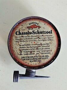 Rare Rare Early 1920's German Mobiloil Gargoyle Handy Oiler Mobilgas Socony Sign