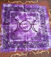 Altar Cloth TRIPLE MOON 18 x 18  Purple go go & Black