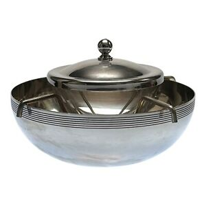 Neiman Marcus Silver Plated Caviar Serving Bowl Set