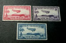New Zealand Stamp Scott#  C6-C8 Airplane over Landing Field 1935 MH  C551 (2)