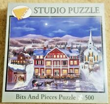 """500pc Puzzle 16"""" x 20""""  """"The Inn At Three Pine"""" By Bits & Pieces Sealed Bob Fair"""
