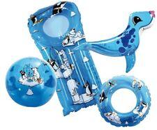 Lot ballon matelas bouée animal gonflable Arctic +sac pour enfant piscine 12063