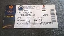 TICKET : CLUB BRUGGE KV - FC KOPENHAGEN 23/10/2014 EUROPA LEAGUE