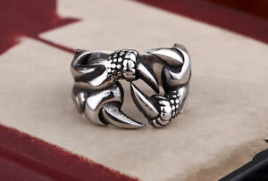 Gorgeous Gothic Dragon Claw Ring Stainless Steel Unisex- NEW