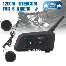 V6 Pro Bluetooth Moto Casco Interfono BT Motocicletta Intercom Cuffie Auricolari
