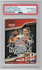Manny Pacquiao & Marquez 4 Boxing Tecate Beer Giveaway Card Signed Auto PSA/DNA