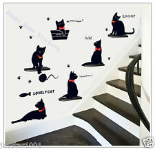 I Love Cats Animals Art Decal Wall Stickers for Children's Room Stylish Home