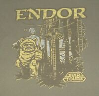 Star Wars Star Tours Endor Adult  XL Limited T Shirt Walt Disney World Park