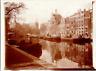Pays-Bas, Amsterdam, les quais Vintage print Tirage citrate  8x11  Circa