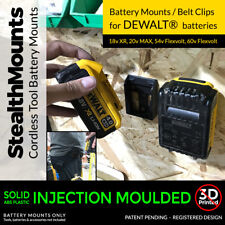 2x Stealth BATTERIA Montature per Dewalt XR BATTERIE DRILLL IMPACT DRIVER 18v